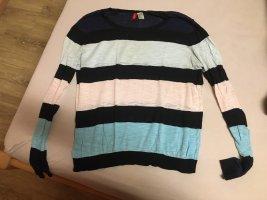 1 brand Sweter z dzianiny czarny-biały
