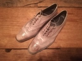 Strenesse Gabriele Strehle Wingtip Shoes beige-oatmeal leather