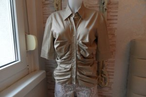 Strenesse Bluse Gr. 40 Baumwolle Beige Edel & Modern