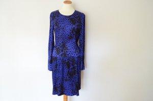 STRENESSE GABRIELE STREHLE blaues Kleid 36 mit Leoparden Print