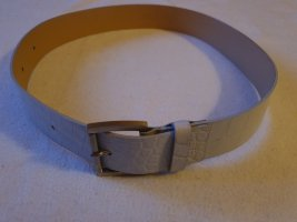 Strenesse Gabriele Strehle Leather Belt light grey