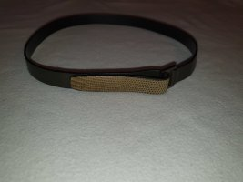 Strenesse Cintura di pelle nero-sabbia