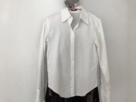 Strenesse weiße langarm Bluse mit Kragen, Gr 34, neu
