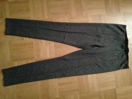 Stretch-Hose, leggings, schwarz-weiß gemustert