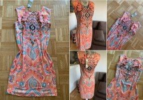 Stretch Midi-Etui-Kleid! Pastelltöne/Color - Kurzarm - Größe M 36/38
