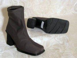Stretch Stiefelette Stiefel STILMODA Gr. 40 Khaki Blockabsatz Slouch