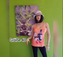 NoName Koszulka o kroju podkreślającym sylwetkę pomarańczowy