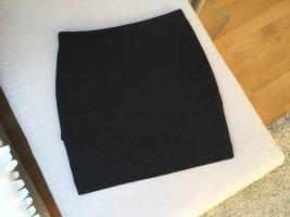 Stretchrock m. schönem Ausschnittdetail, schwarz, H&M, Gr. XS