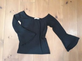 Pull & Bear Camisa acanalada negro Poliéster