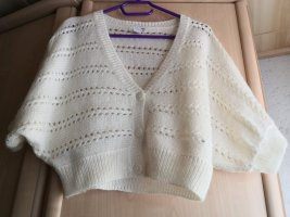H&M Knitted Bolero natural white mohair
