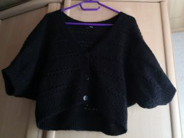 H&M Knitted Bolero black mohair