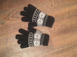 Knitted Gloves black-white