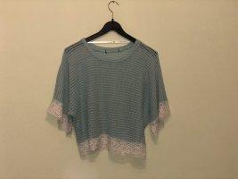 Gehaakt shirt babyblauw-turkoois