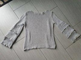 Boutique Ware Maglione lavorato a maglia grigio chiaro