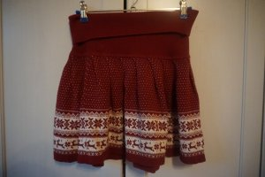 Primark Jupe tricotée rouge-blanc tissu mixte