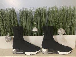 ASH Slip-on Booties black-white