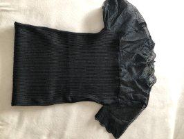 Gebreide top zwart