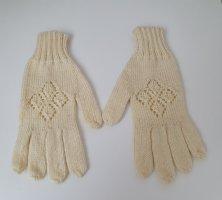 Gebreide handschoenen wolwit