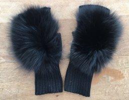 Riani Fur Gloves black wool