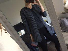 Lange blazer donkergrijs-zwart