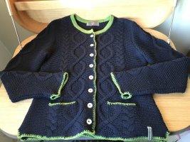 Lieblingsstück Cardigan a maglia grossa verde prato-blu scuro
