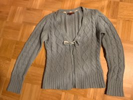 Review Coarse Knitted Jacket slate-gray