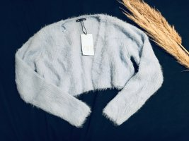 Strickjacke babyblau L Cropped