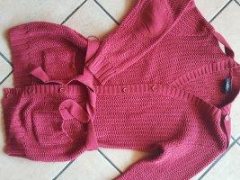 Gina Benotti Veste tricotée en grosses mailles rouge foncé