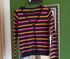 Strickjacke gestreift
