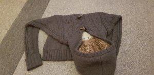 Cardigan a maglia grossa antracite