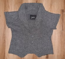 Zagora Short Sleeve Knitted Jacket grey-dark grey