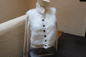 Coarse Knitted Jacket natural white wool