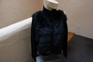 Coarse Knitted Jacket black wool