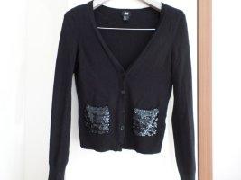 Strickjacke von H&M Gr. XS schwarz