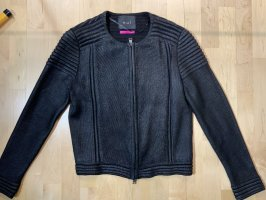 Oui Veste tricotée en grosses mailles noir
