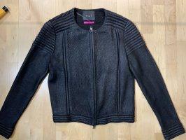Oui Coarse Knitted Jacket black