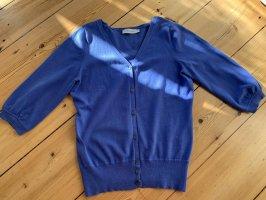Turnover Cardigan a maniche corte blu acciaio-blu fiordaliso