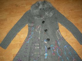 Coarse Knitted Jacket multicolored mixture fibre