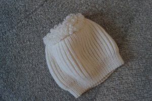 Cappello a maglia bianco Lana
