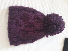 C&A Sombrero de punto violeta amarronado