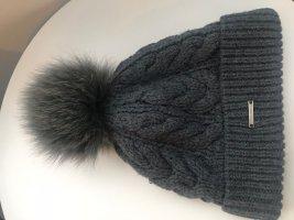 Barts Chapeau en tricot gris anthracite-gris foncé laine