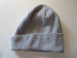H&M Cappello a maglia grigio chiaro Cotone