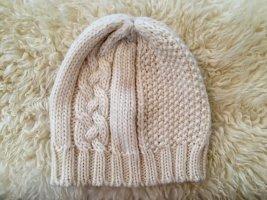 H&M Cappello a maglia beige chiaro-bianco sporco Lana