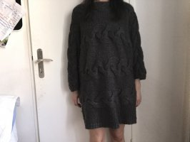 COS Knitted Dress anthracite alpaca wool