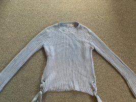 Bohoo Pull tricoté bleu azur