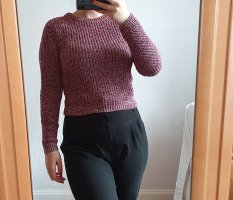 H&M Divided Knitted Sweater purple