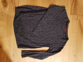 s.Oliver Black Label Pullover a maglia grossa grigio chiaro-blu scuro
