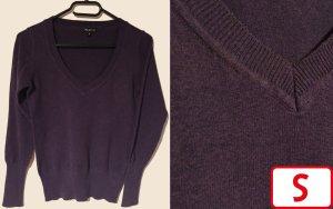one love Jersey con cuello de pico violeta oscuro-lila