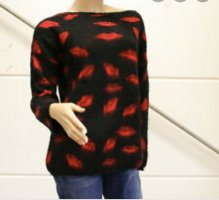 Conleys Knitted Sweater black-red