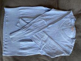 Blue Motion Sweter z dekoltem w kształcie litery V błękitny